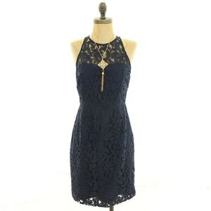 J Crew Lace Dress Sz 2 Sheath Boning Lined